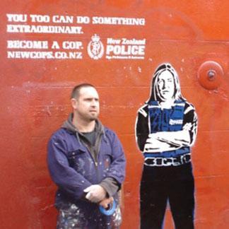 NZ Police Street Art